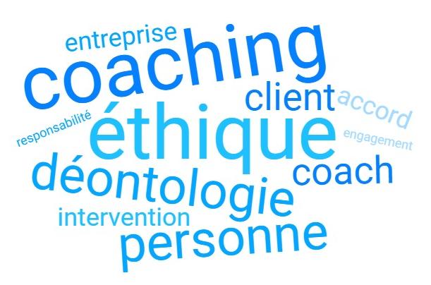 Nuage de mots déontologie coach